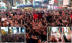 Times Square SHUT DOWN by thousands marching to support Missouri teen