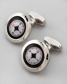 Never get lost again with these functional compass cuff links