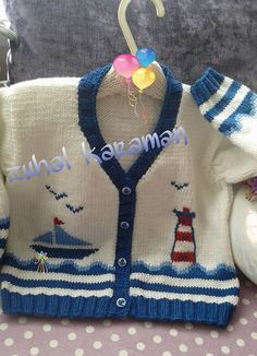 Toddler knit cardigan with sai |
