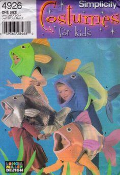 Simplicity 4926 s Boys Girls FISH COSTUME Pattern NEMO Sewing Pattern by mbchills