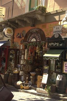 Lipari Food Shop - Sicilian Coast, Italy
