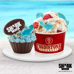 """Pin this to your """"Fin-spiration"""" board for a chance to win the ultimate Shark Week Viewing party! Follow link for official rules. 0 likes0 repins    Cold Stone Creamery fin-spiration    Create your own campaign with Votigo"""