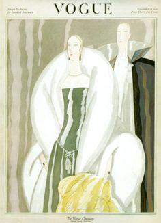 Vintage Vogue Magazine Cover Art Print
