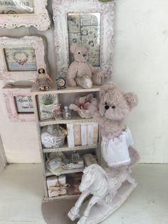 up to no good little bear – Sharon Hale –. Australian Artists, Teddy Bears, Doll Clothes, Dolls, Sweet, Cute, Handmade, Teddy Bear, Baby Dolls