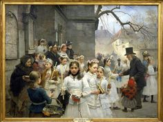 Carlo Frithjof Smith (1859-1917)  After the First Holy Communion 1892  Oil on canvas  Museo Revoltella, Trieste