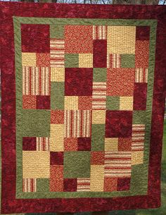 Take Five - Char's Quilt by goddessinprogress, via Flickr.  love these colors and pattern.  May have to start on this soon.