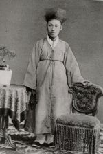 Kim Ok-gyun photographed in Nagasaki in 1882. His assassination in China would contribute to tensions leading to the First Sino–Japanese War.