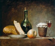 .:. Anne Vallayer-Coster (1744-1818) Still Life with Round Bottle – 1770