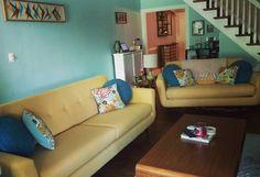 Joybird Hughes Apartment Sofa, Hughes Sofa (Custom), Decorative Round Pillows (Set of 2) from Ashley D.