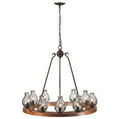 Trans Globe Lighting 70579 9 Light Single Tier Chandelier in Charcoal