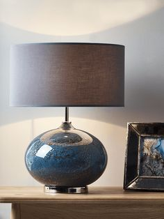NEW Volcanic Effect Table Lamp - Grey