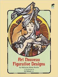 Art Nouveau Figurative Designs Dover Pictorial Archive Alphonse Marie Mucha Jr MuchaBuy BooksBooks OnlineBook ListsColoring