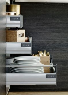 Get a good overview whit drawers in your cabinets #kvik
