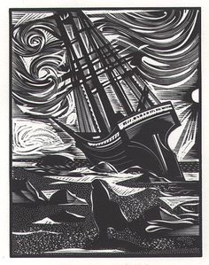 Seven Gothic Tales by Isak Dinesen 1984 - Relief-block print Hand-printed by the artist on acid-free paper $175.00 © The Alcorn Studio & Gallery