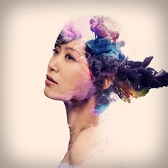 Portraits Mixed with Swirling Ink in Water Alberto Seveso