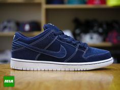 """Nike SB Dunk Low """"Midnight Navy"""" and I don't even like dunks any more but these are pretty dope"""