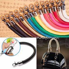 Leather Braided Purse Handle Shoulder Bags Belt Replacement Handbag Strap DIY #Unbranded