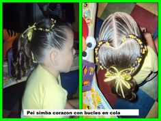 Simba corazon con bucles en cola