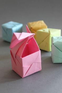 Cute origami cubes