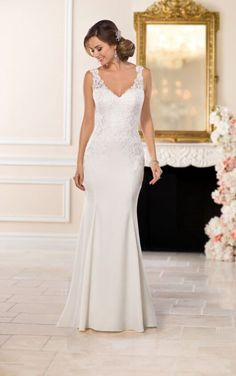 6514 Casual Lace Wedding Dress by Stella York