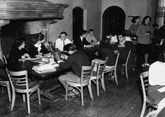 """The college did not initially assemble sports teams or organize extracurricular activities. Consequently, Coe Hall's """"Coffee Shop"""" became the center of the social activity. (Planting Fields, Oyster Bay, NY/Stony Brook University)"""