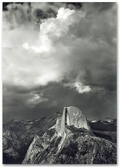 Ansel Adams Half Dome from Glacier Point 1947 Pictorialism His black-and-white landscape photographs of the American West, especially Yosemite National Park, have been widely reproduced. Vintage Nature Photography, Artistic Photography, Photography Ideas, Sierra Nevada, Great Photographers, Landscape Photographers, Ansel Adams Photography, Straight Photography, Photo Lovers