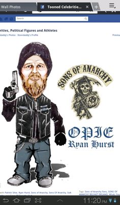 Sons of Anarchy - Opie ♊️  (Artwork by Itoondaddy on FB)