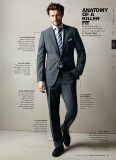 Nothing better than a guy in a properly fitted suit! (Nordstrom, Spring 2012 Men's Catalog p33)