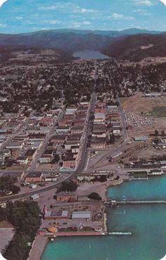 Aerial View of Coeur D'Alene Idaho