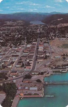 Aerial View of Coeur D'Alene Idaho