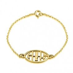 Save On Gold Monogram Necklace At Name Necklace Now.Orders Ships Within 24 Hours. Sterling Silver Monogram Necklace, Monogram Bracelet, Personalized Bracelets, Name Necklace, Gold Necklace, Gold Plated Bracelets, Jewelry Trends, Fashion Jewelry, Letters