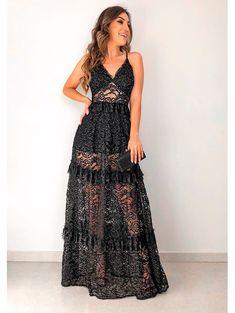 Vestido Longo Renda Marta