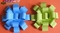 Mary Creative - Origami # 19 | How to make Paper Flower Bow | paper gift...