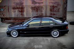 This might be in my future, like actually might trade my car for a E36 M3 4 door...  Black BMW e36 sedan on OEM BMW Styling 5 (BBC RC) wheels
