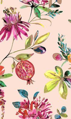 Pink Blush Bright Blossom Floral Wallpaper R6141