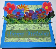 Extreme Cards and Papercrafting: Pleated Center Pop Up Card Tutorial