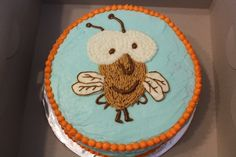 Little Peter rabbit had a fly upon his nose- fly guy cake!