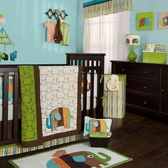 Zutano - Elephants Crib Set at West Coast Kids