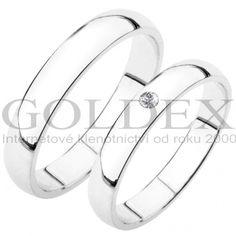 SP-202B Snubní prsteny bílé zlato