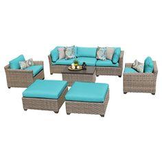 7 tk classics 8 piece monterey outdoor wicker patio furniture set