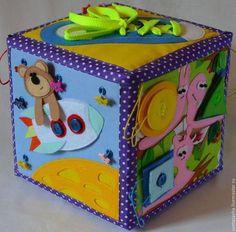 Купить Развивающий кубик - разноцветный, развивающая игрушка, развитие мелкой моторики, развивающий кубик