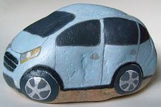 How to Personalize a Painted Rock Car