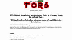 TOR6 30 Minute Expiration Binary Options System Review