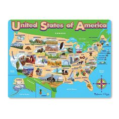 Playskool USA Map Puzzle Featuring The MidAtlantic States New - United states map jigsaw puzzle online