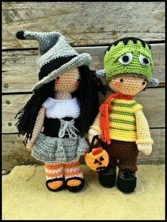 "Crochet Amigurumi Meglaly Witch Halloween Doll""Kepsake"""
