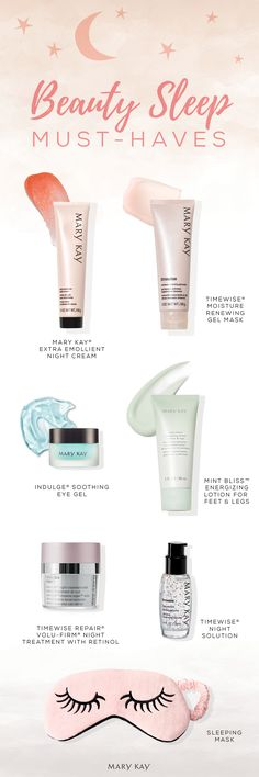 Along with a good night's sleep, these pampering body & skin care products can help give your skin the beauty sleep it deserves! | Mary Kay
