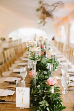What's not to love about floating candles?  Whether used as centerpieces or as accent decor, the look is fresh and modern.  Floaters can be used to create an elegant or rustic look depending on the type of glass containers used.  If you plan to DIY parts of your wedding, incorporating floaters is simple, less expensive then flower …
