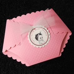 Personalized Baby Shower Invitations, Pink Dotted Diaper Baby Girl Vintage, set of 20 on Etsy, $40.00