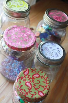 I have been using mason jars as storage in my studio for quite some time. I love how sturdy they are. I love that they are see-through, an...