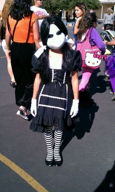 Scary doll costume.